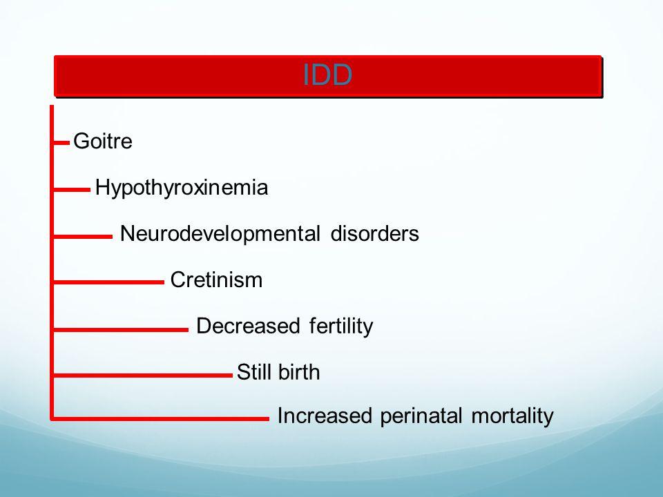 IDD Goitre Hypothyroxinemia Neurodevelopmental disorders Cretinism