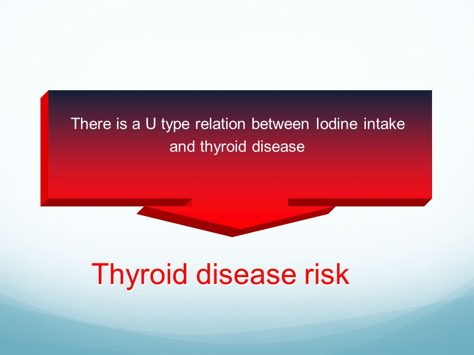 There is a U type relation between Iodine intake