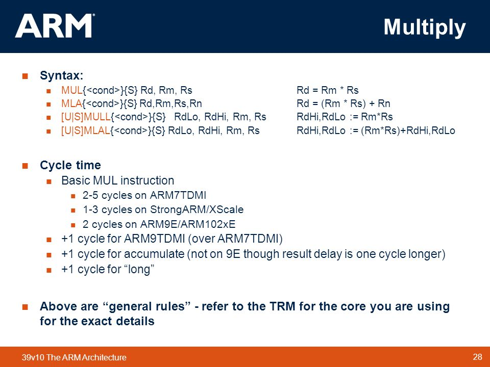 Multiply Syntax: Cycle time