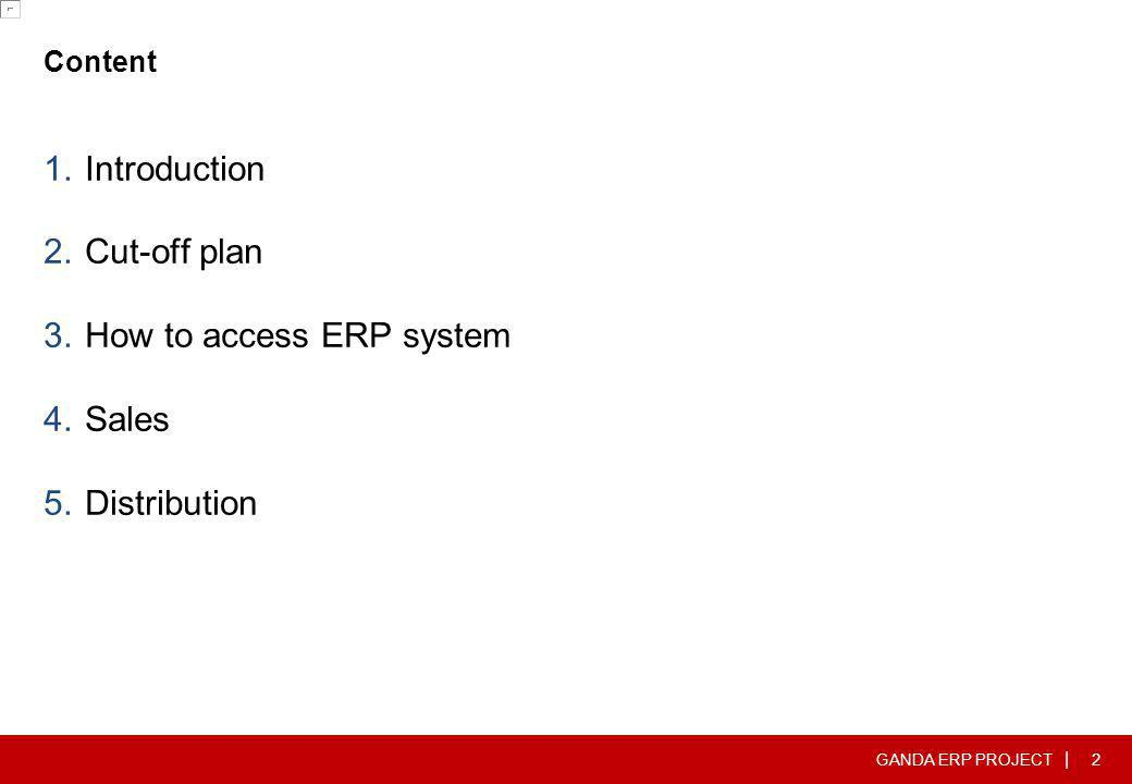 How to access ERP system Sales Distribution
