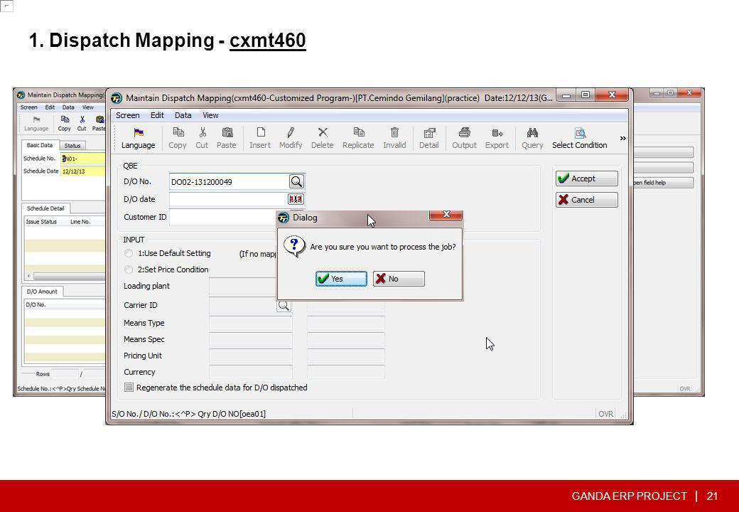 1. Dispatch Mapping - cxmt460