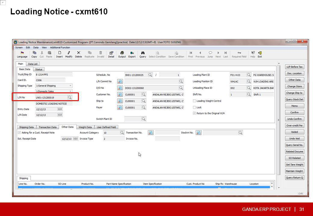 Loading Notice - cxmt610