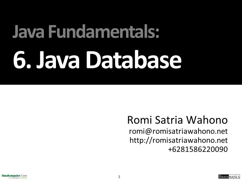 Java Fundamentals: 6. Java Database
