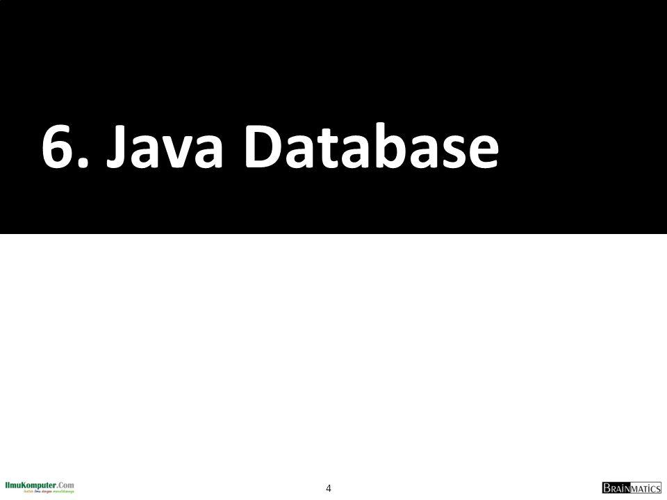 6. Java Database