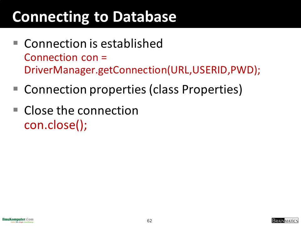 Connecting to Database