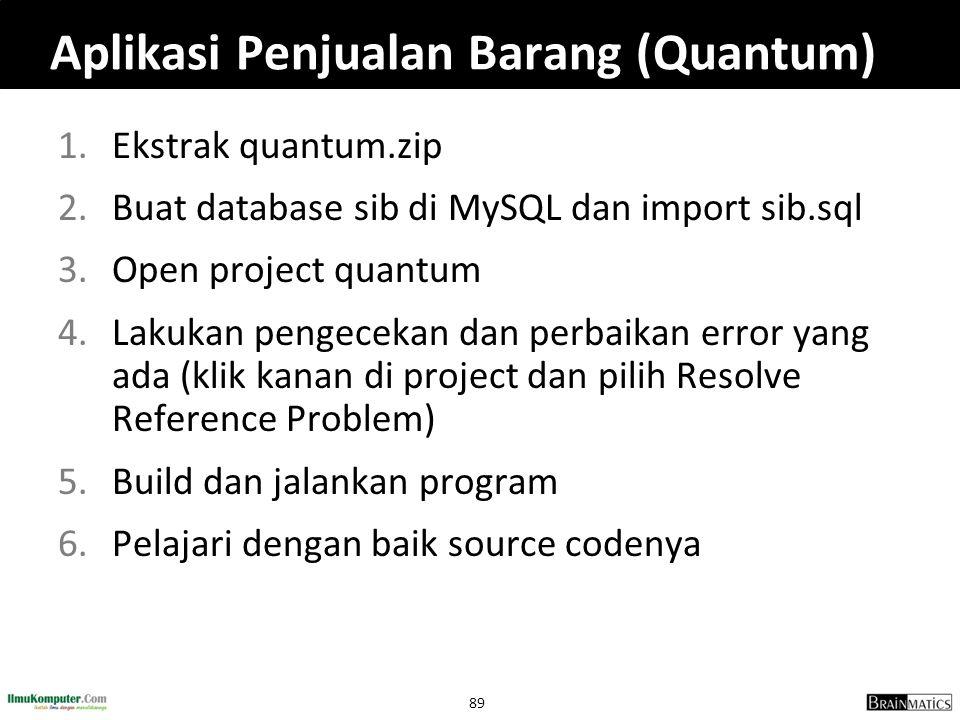 Aplikasi Penjualan Barang (Quantum)