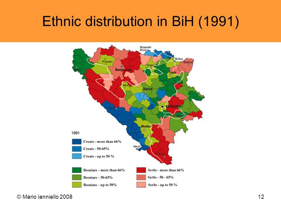 Ethnic distribution in BiH (1991)