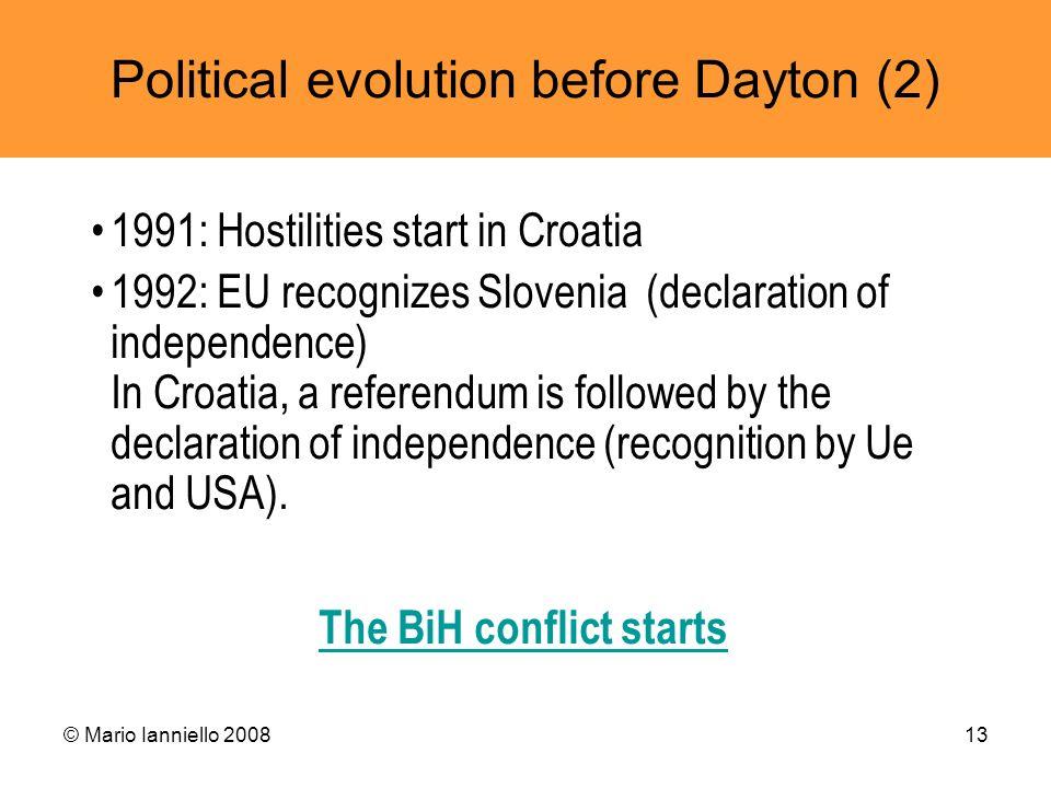 The BiH conflict starts
