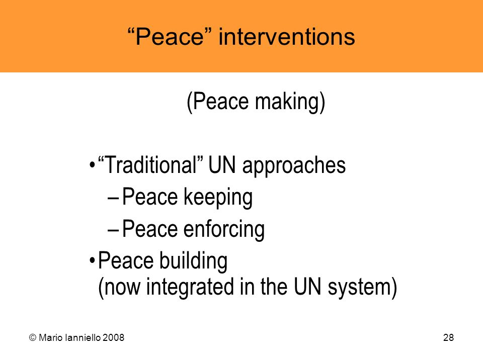 Peace interventions
