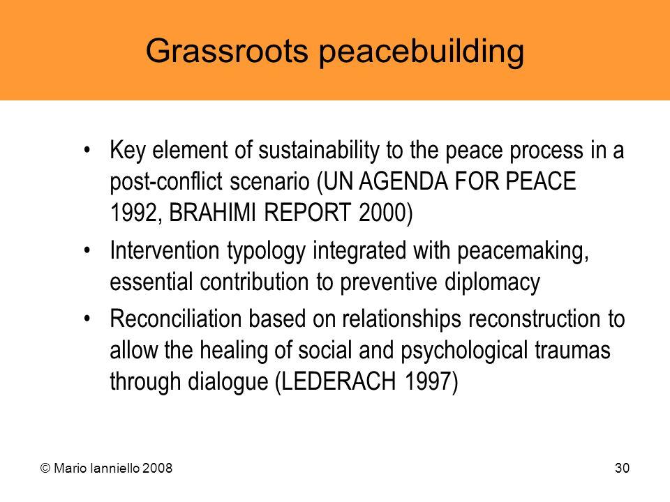 Grassroots peacebuilding