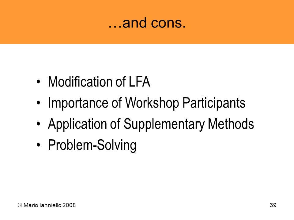 Importance of Workshop Participants