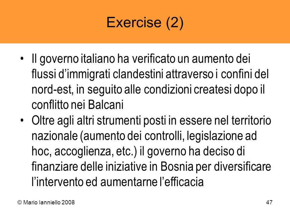 Exercise (2)