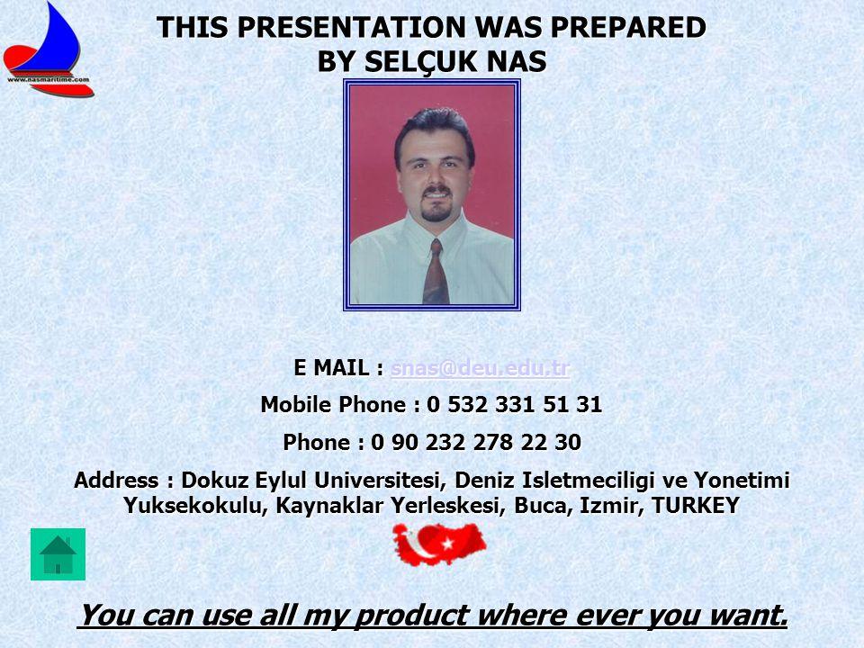 THIS PRESENTATION WAS PREPARED BY SELÇUK NAS
