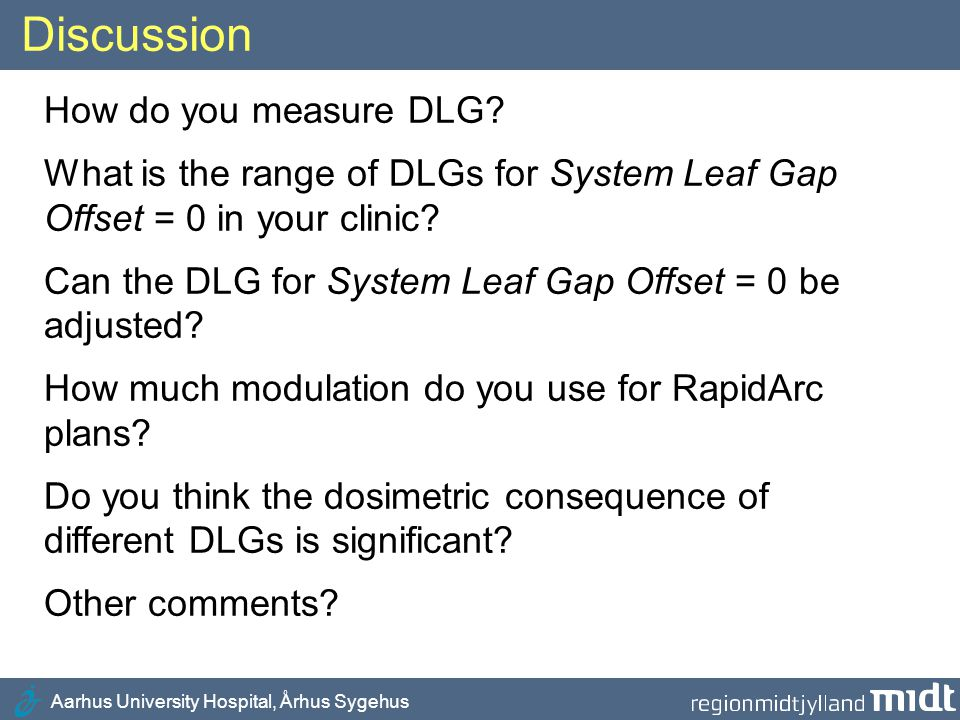 Discussion How do you measure DLG