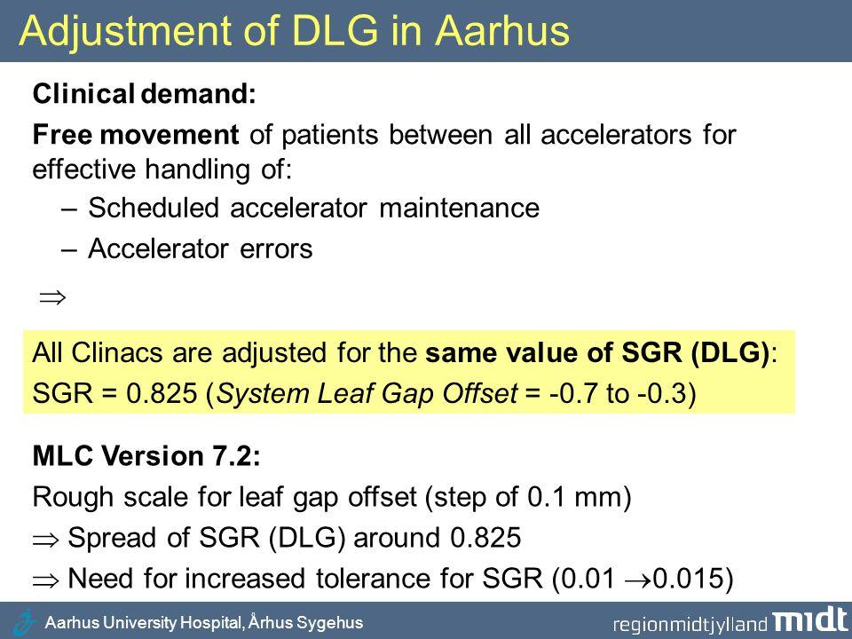 Adjustment of DLG in Aarhus