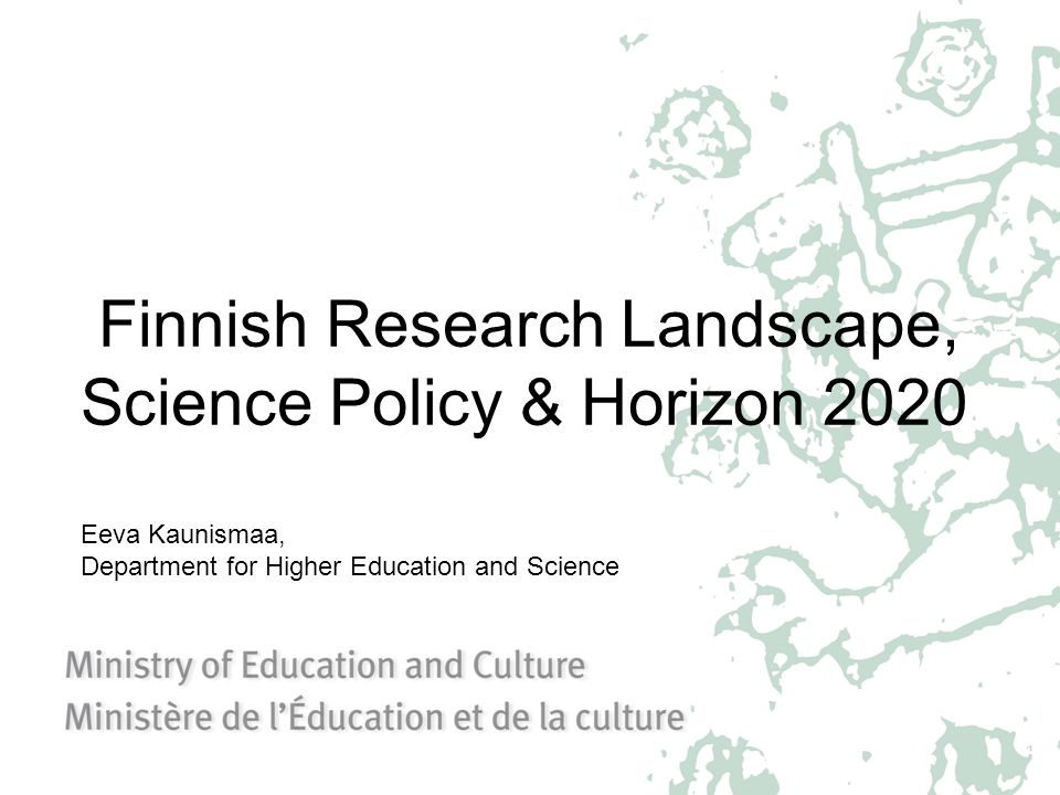 Finnish Research Landscape, Science Policy & Horizon 2020