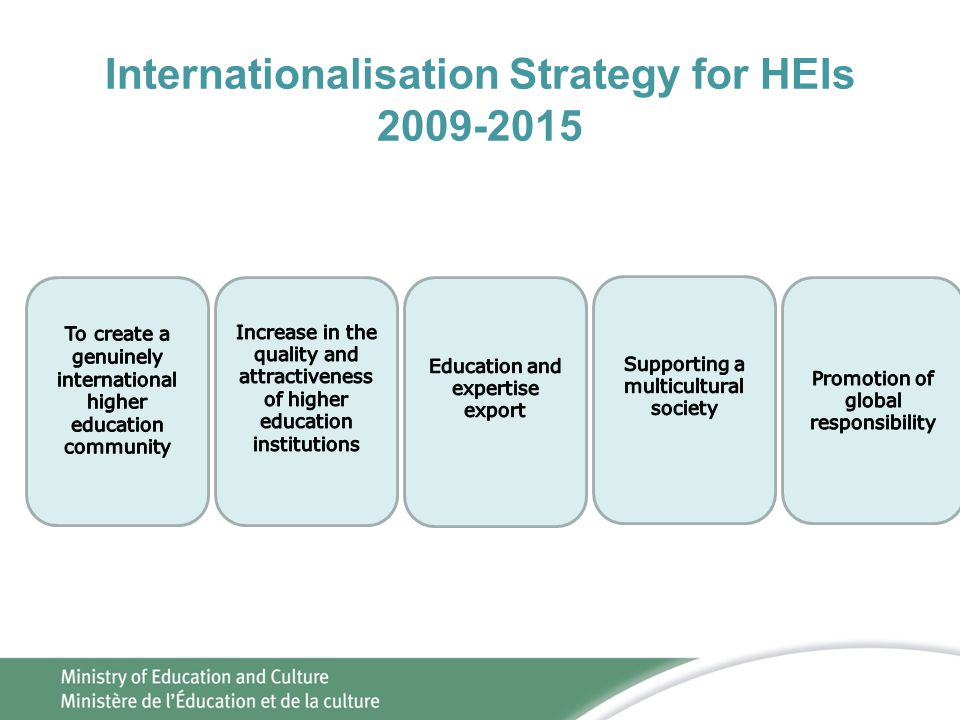 Internationalisation Strategy for HEIs 2009-2015