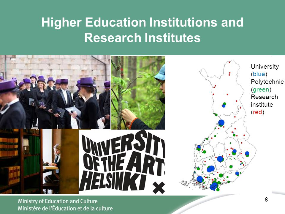 Higher Education Institutions and Research Institutes