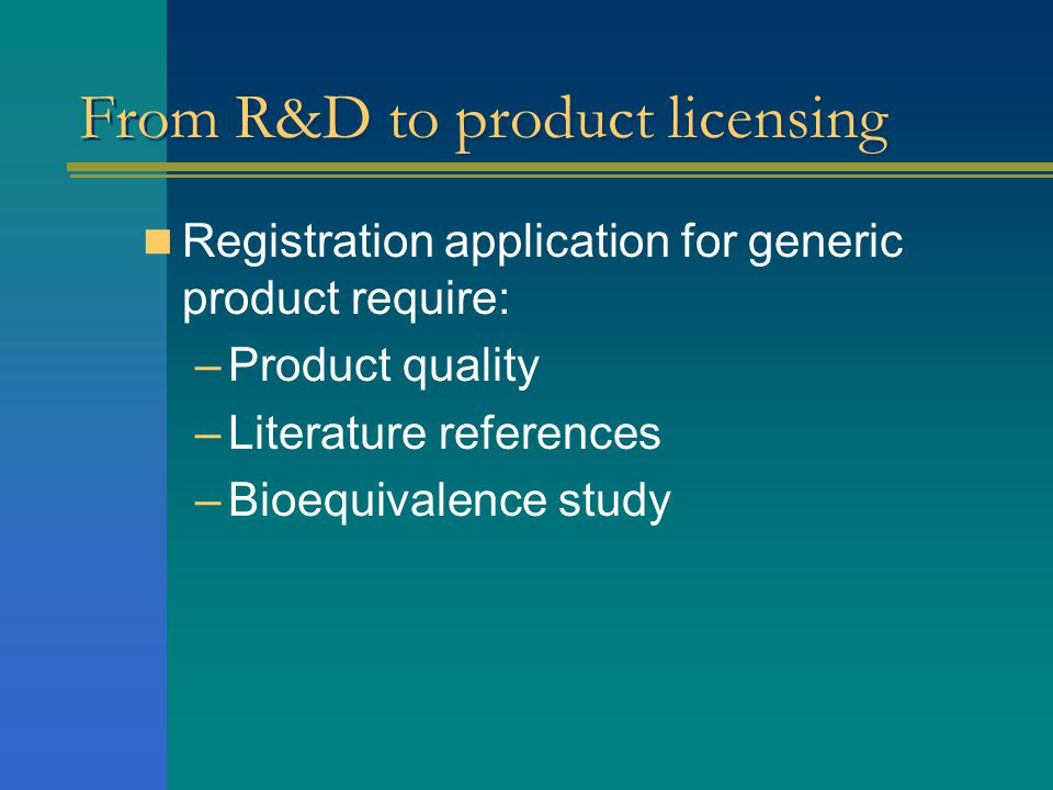 From R&D to product licensing