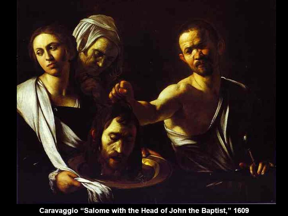 Caravaggio Salome with the Head of John the Baptist, 1609