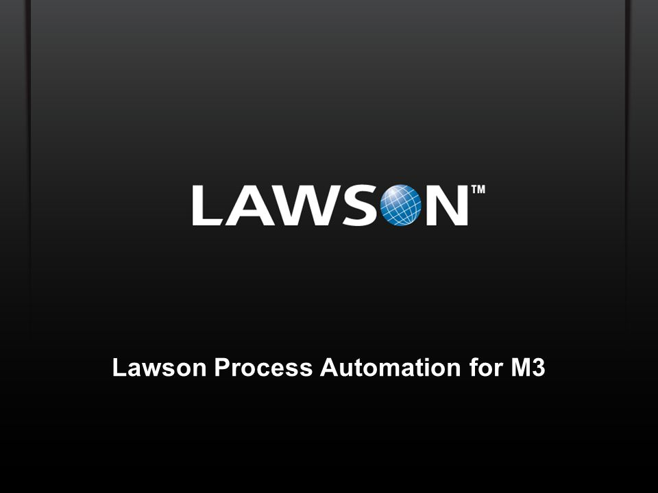 Lawson Process Automation for M3