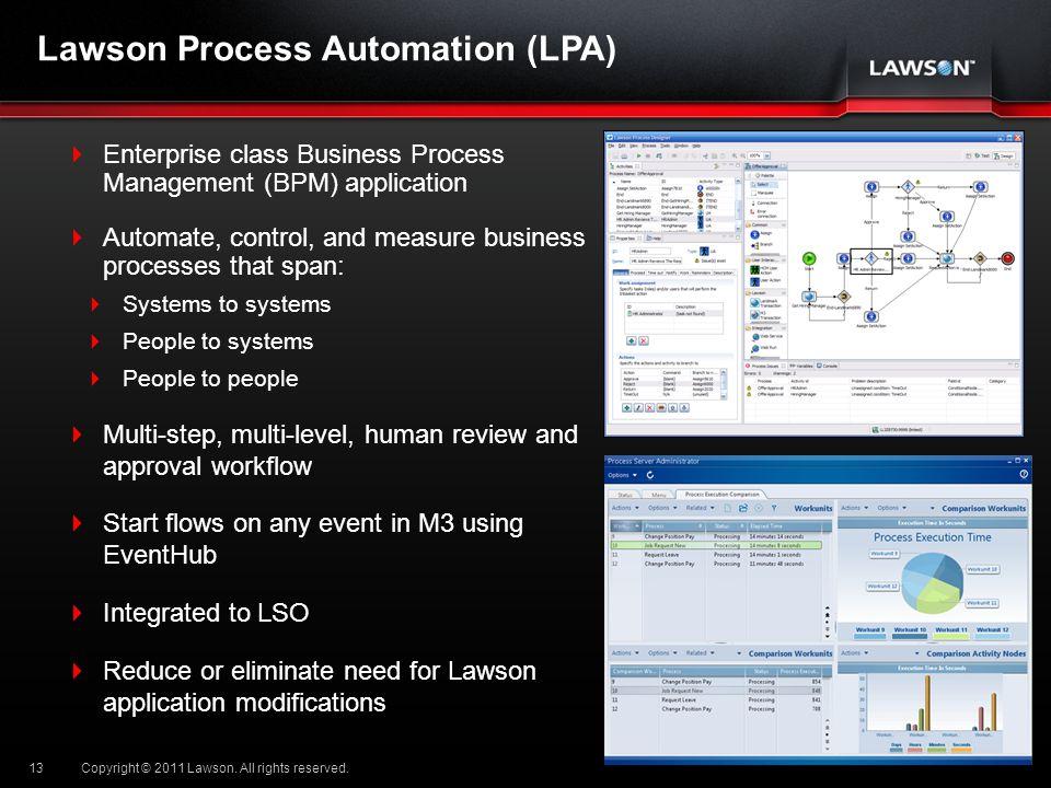Lawson Process Automation (LPA)