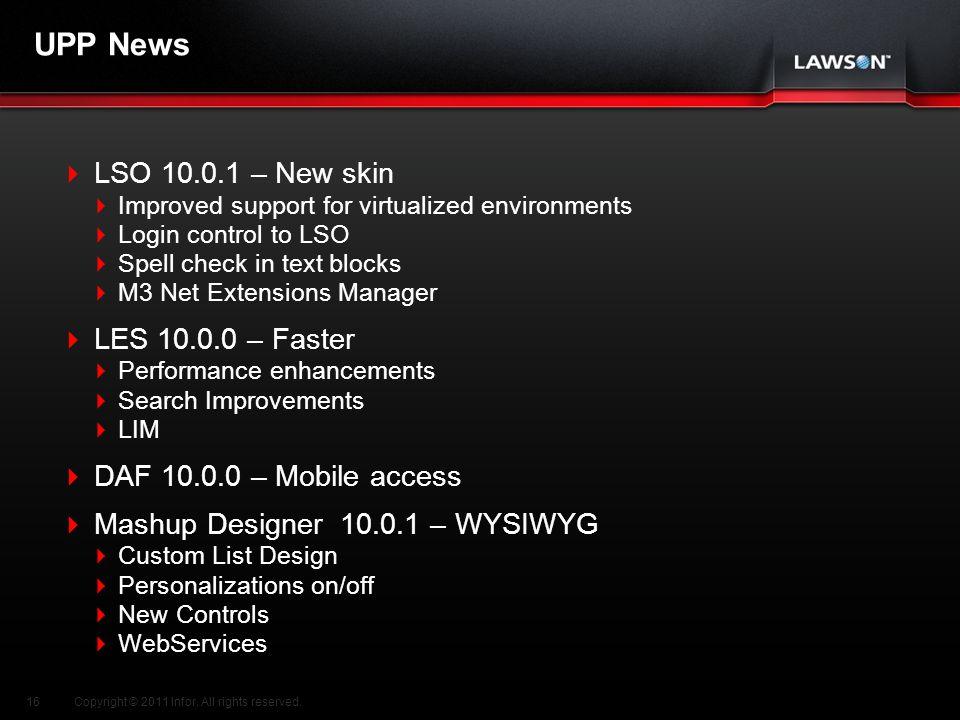 UPP News LSO 10.0.1 – New skin LES 10.0.0 – Faster