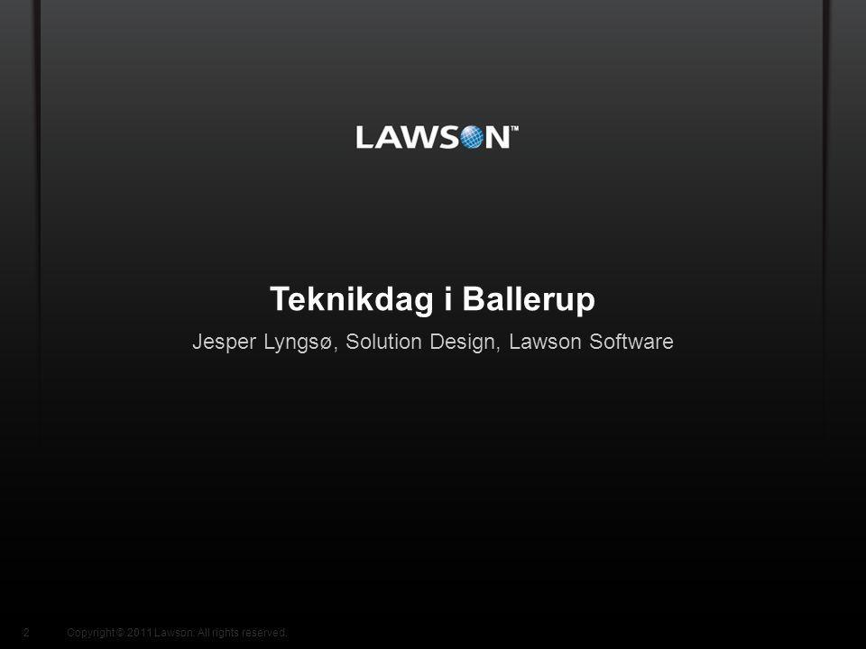 Jesper Lyngsø, Solution Design, Lawson Software