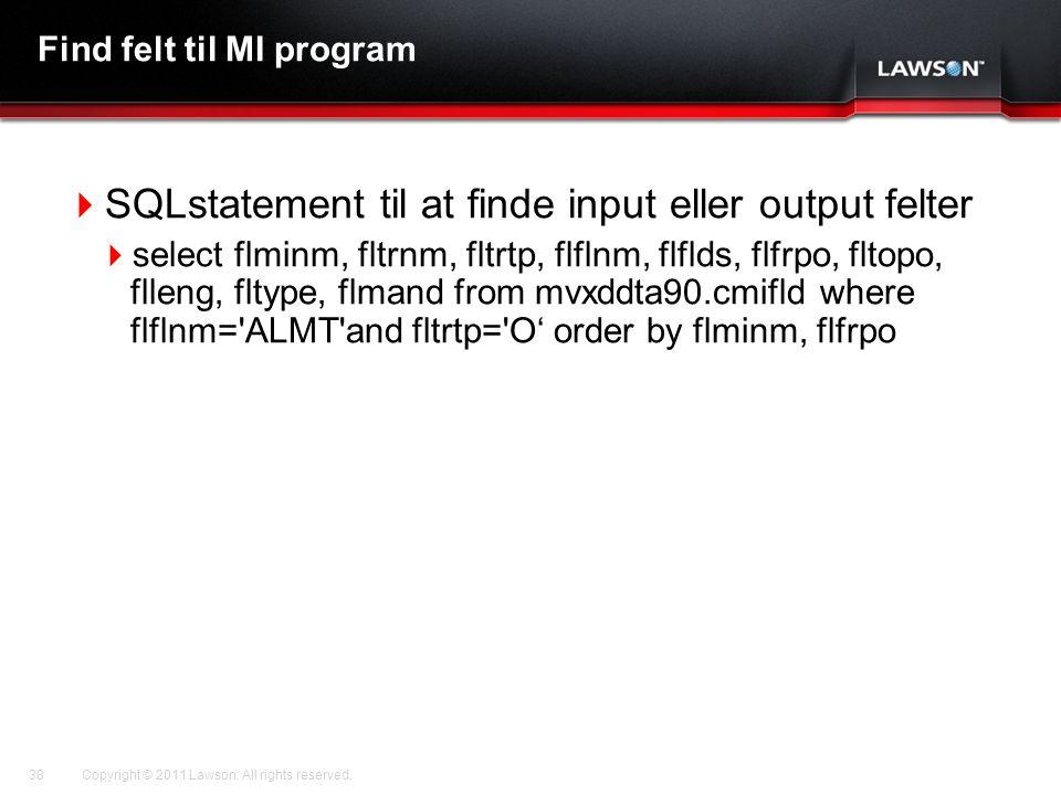 Find felt til MI program