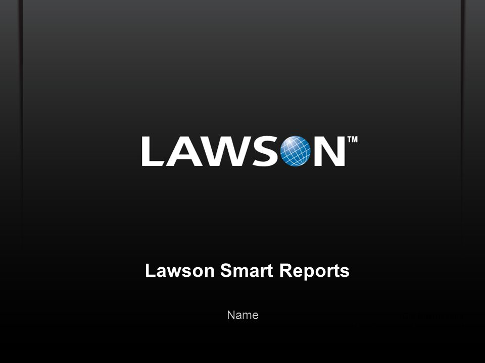 Lawson Smart Reports Name Ole Rasmussen