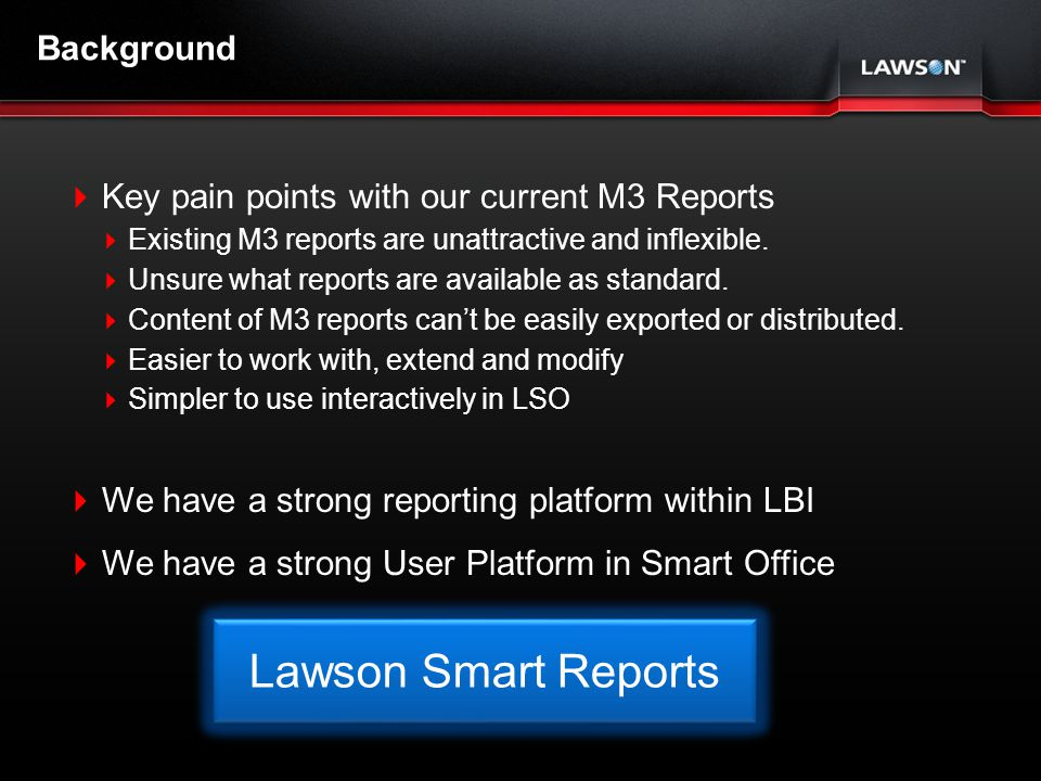 Lawson Smart Reports Background