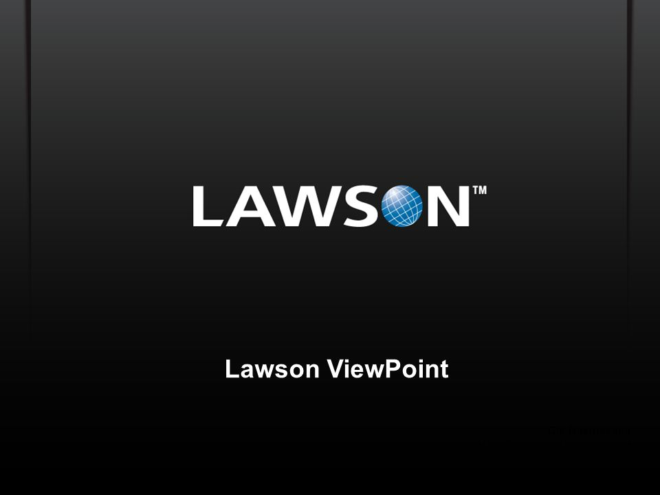 Lawson ViewPoint Ole Rasmussen Global Director Product Management
