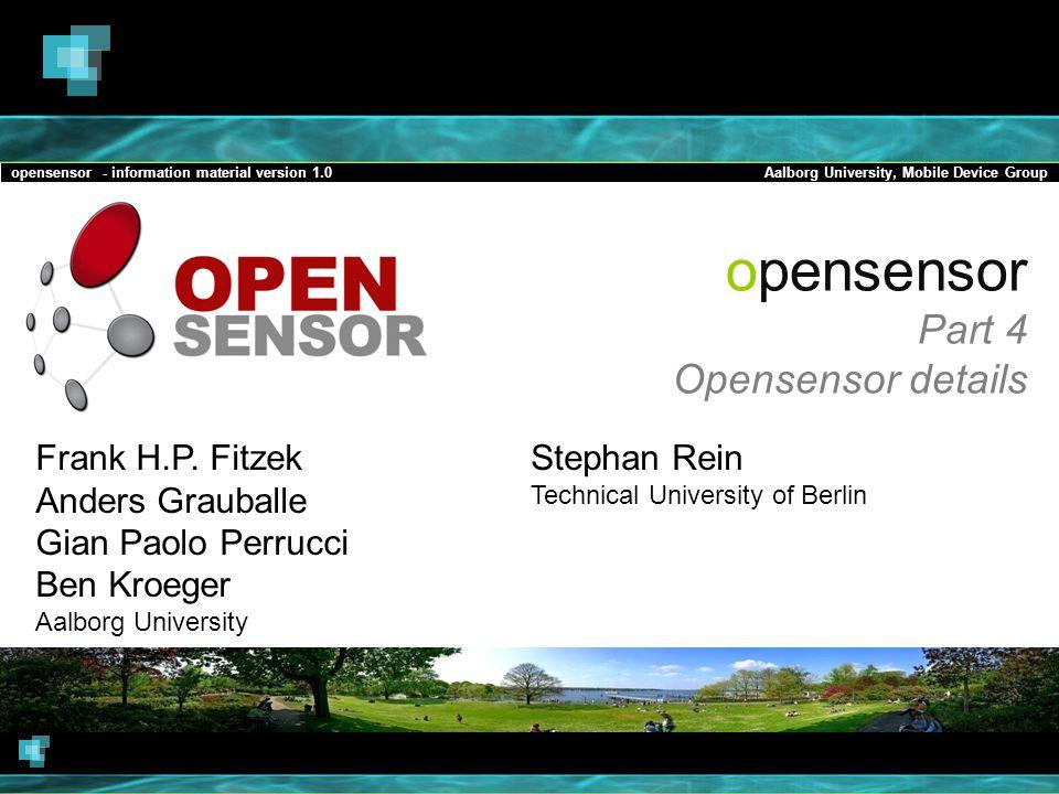 opensensor Part 4 Opensensor details