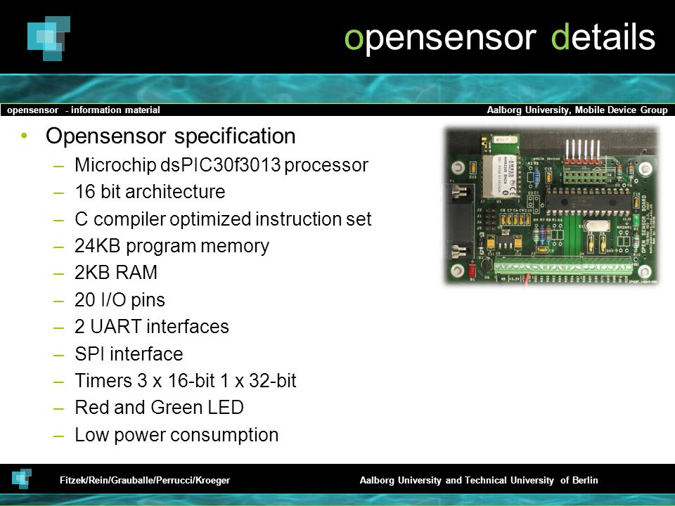 opensensor details Opensensor specification