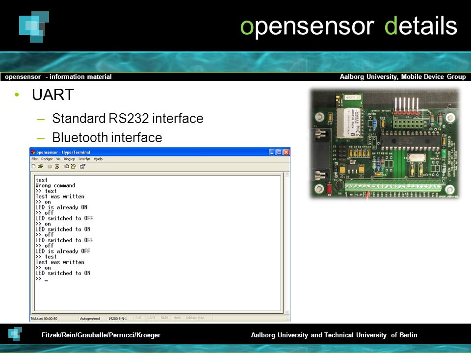 opensensor details UART Standard RS232 interface Bluetooth interface