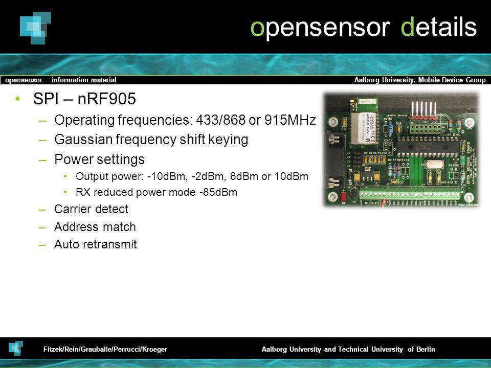 opensensor details SPI – nRF905