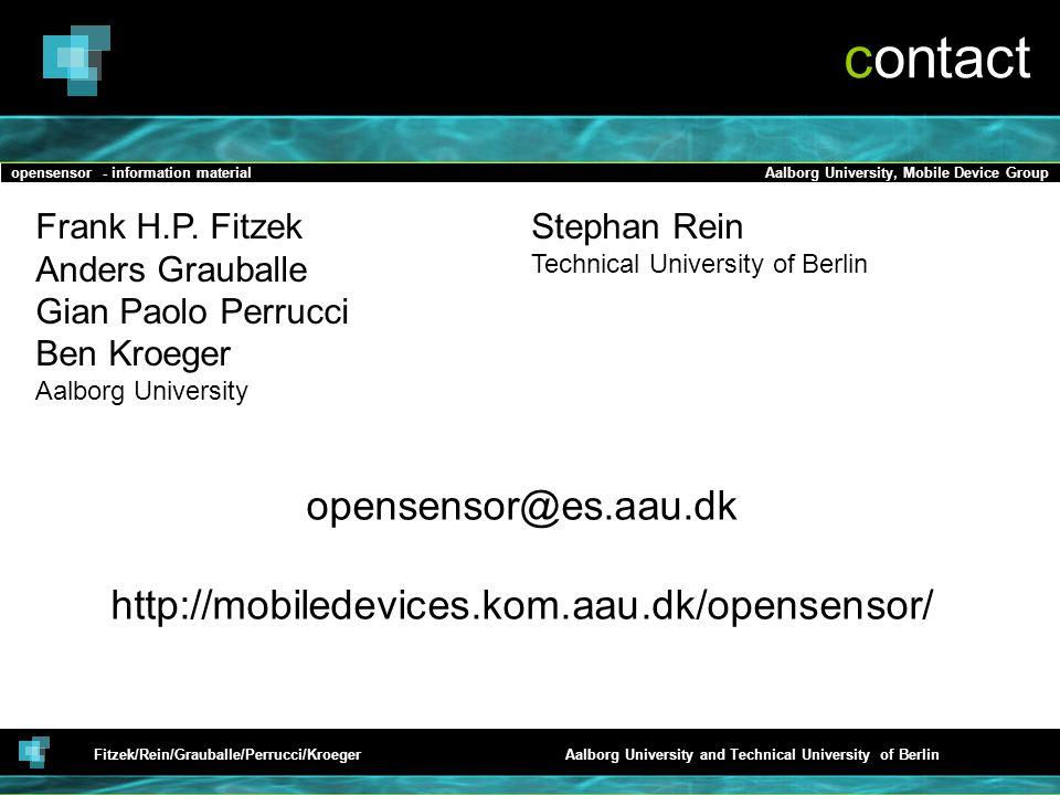 contact opensensor@es.aau.dk