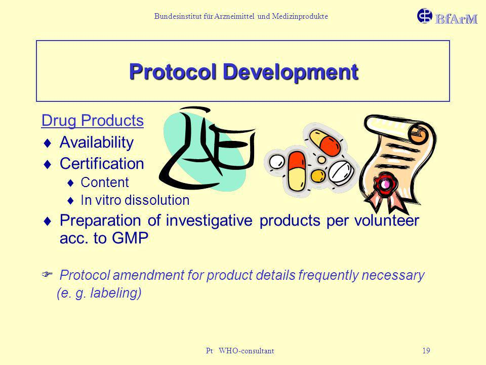 Protocol Development Drug Products Availability Certification