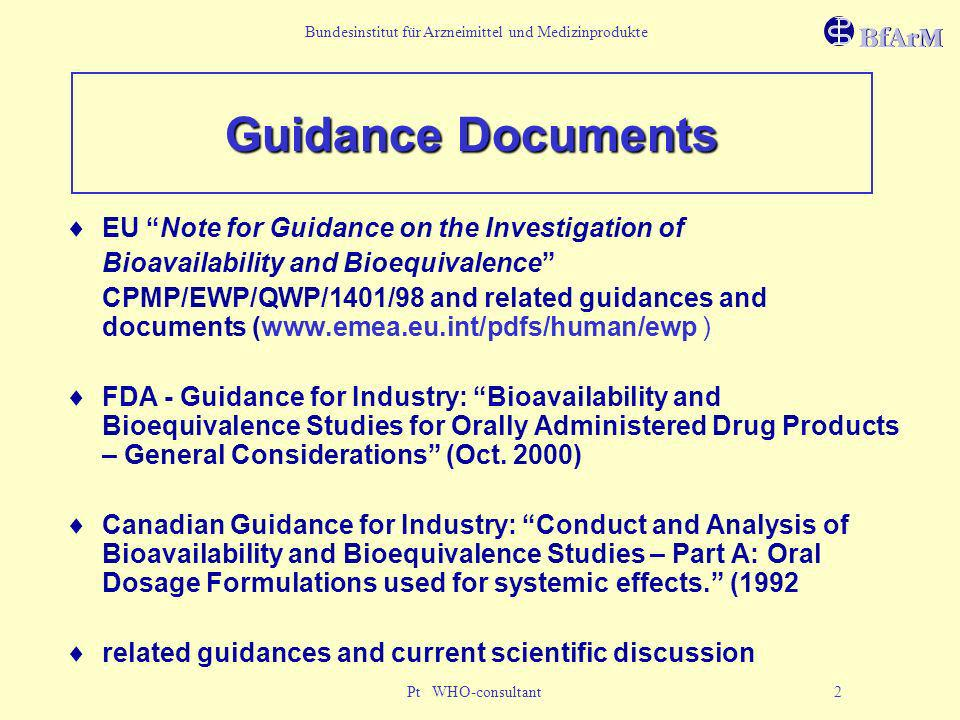 Guidance Documents EU Note for Guidance on the Investigation of