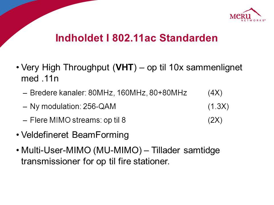 Indholdet I 802.11ac Standarden