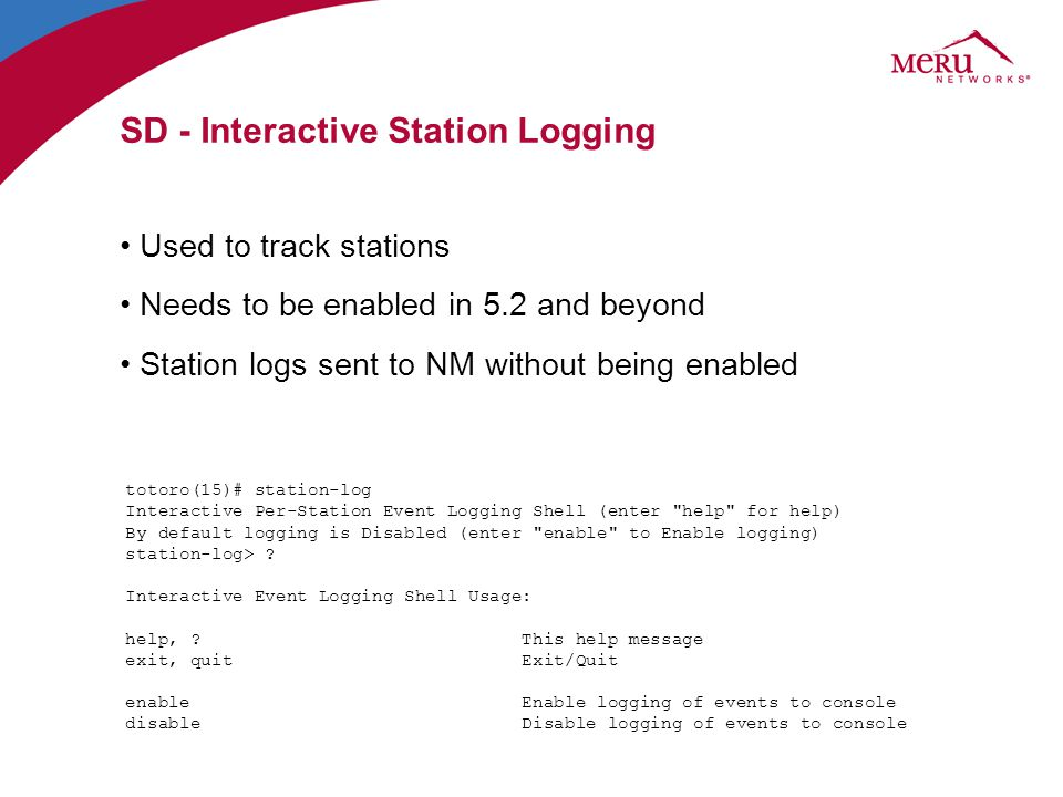 SD - Interactive Station Logging