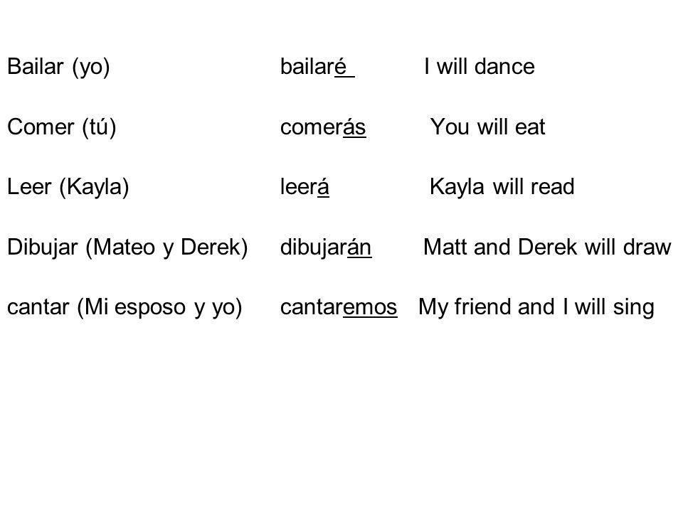 Bailar (yo) bailaré I will dance