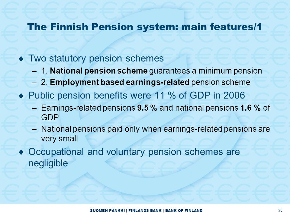 The Finnish Pension system: main features/1