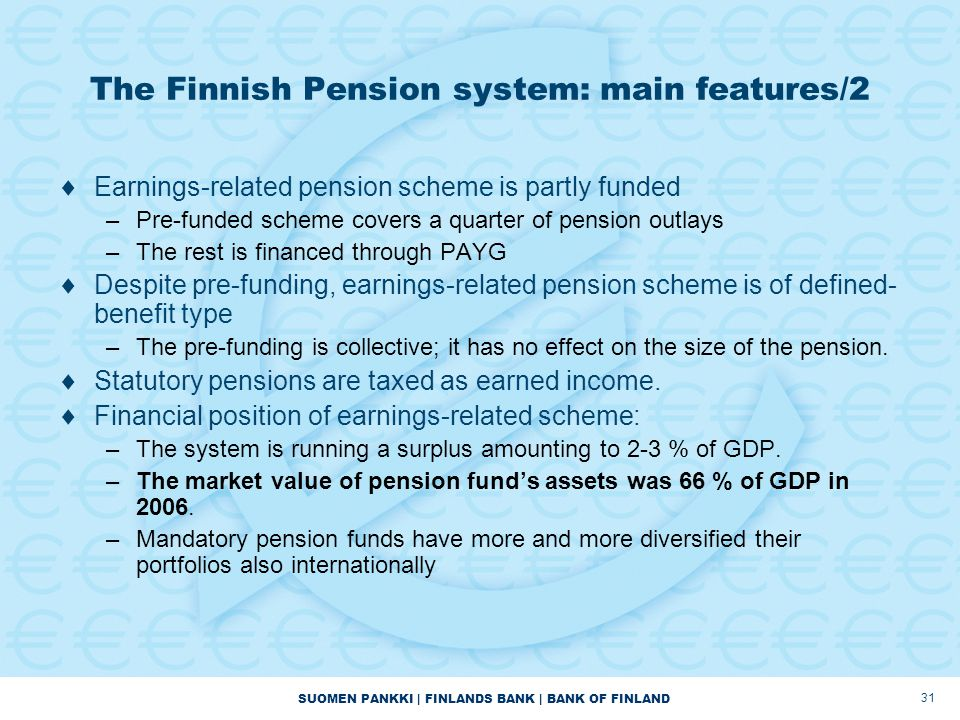 The Finnish Pension system: main features/2