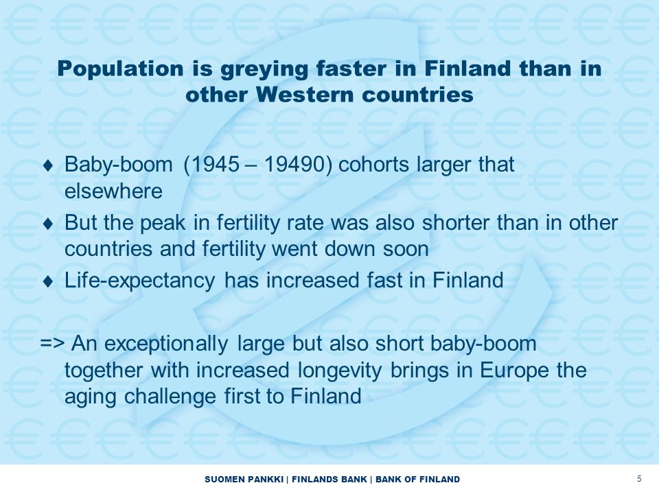 Population is greying faster in Finland than in other Western countries