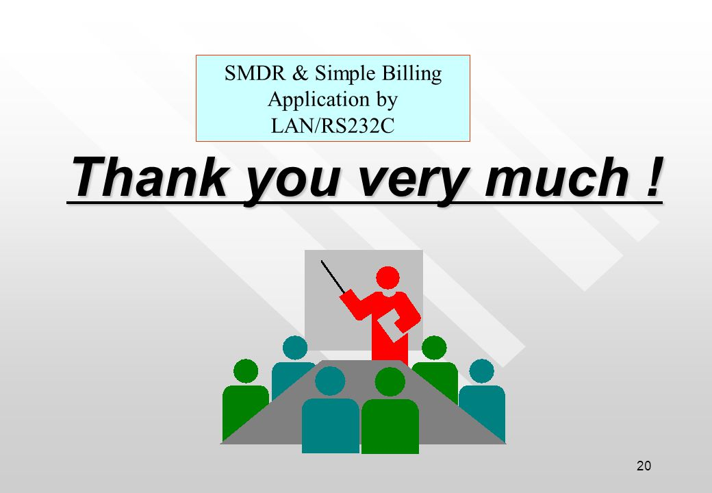 SMDR & Simple Billing Application by LAN/RS232C