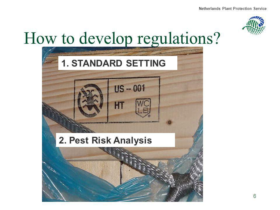 How to develop regulations