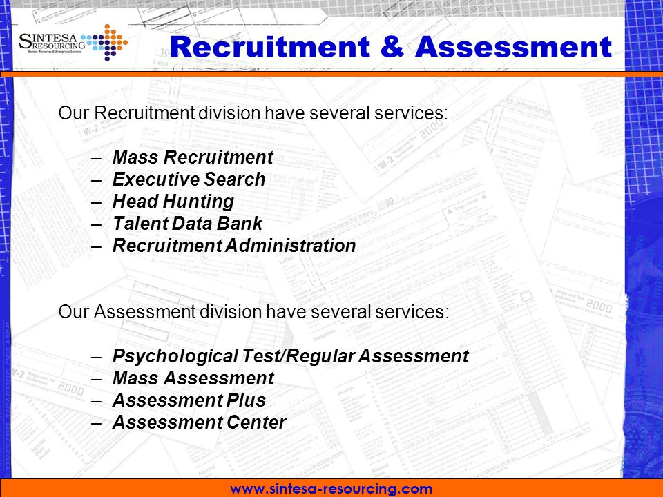 Recruitment & Assessment