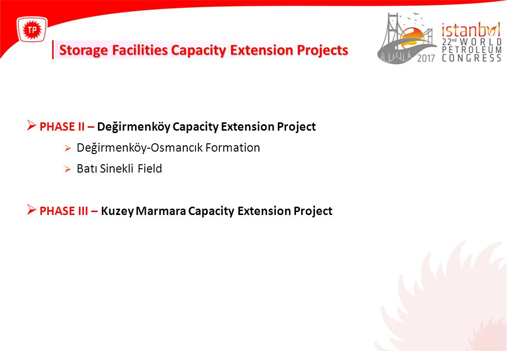 Storage Facilities Capacity Extension Projects