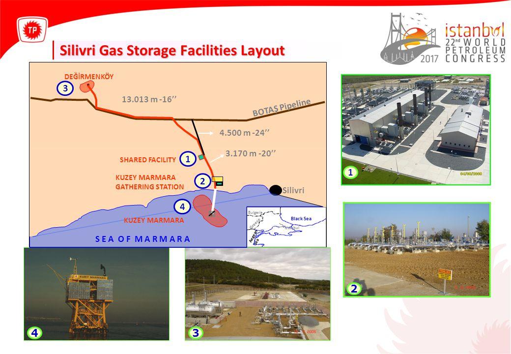 Silivri Gas Storage Facilities Layout